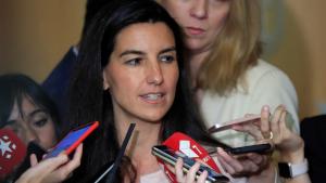 La candidata de Vox a la Presidencia de la Comunidad de Madrid, Rocío Monasterio, en declaraciones a los medios