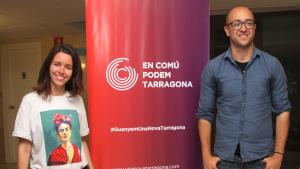 La número u d'En Comú Podem, Carla Aguilar, i el número dos, Hermán Pinedo