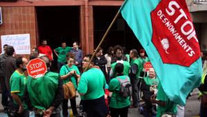 La PAH Baix Gaià s'ha unit a la convocatòria iniciada per la CUP de Torredembarra.