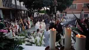 La professó del Corpus acaba al Santuari de la Mare de Déu del Lledó