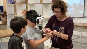 La realitat virtual ha protagonitzat un dels projectes dels alumnes de l'institut.