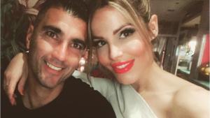 José Antonio Reyes junto a su mujer, Noelia López