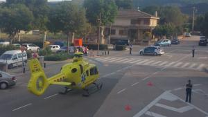 L'helicòpter del SEM s'ha traslladat fins al lloc dels fets, però no ha pogut fer res per salvar la vida al nen.