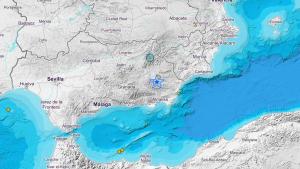 Localización del terremoto de magnitud 4 que ha hecho temblar Almería
