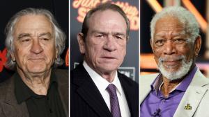 Los ganadores del Oscar, Robert De Niro, Morgan Freeman, Tommy Lee Jones, Morgan Freeman, protagonistas de 'The Comeback Trail'