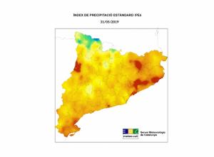 Mapa de les zones amb més sequera aquest inici d'estiu