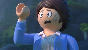 Marla (Anya Taylor-Joy) recién aterrizada al universo Playmobil