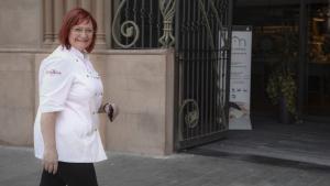 Montse Bertran, presidenta dels paradistes del Mercat Central, reclama una reducció del preu del pàrquing.