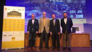 Pere Granados, Martí Carnicer, Josep Mateu i Antoni Reig a la presentació de la 55a edició del RallyRACC