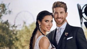 Pilar Rubio y Sergio Ramos en el día de su boda