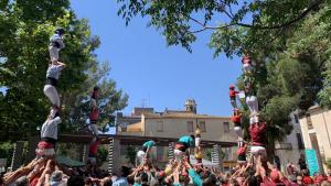 Pilars de totes les colles participants a la diada del Firal de Vilafranca del Penedès