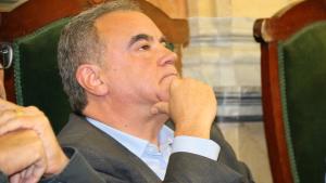 Primer pla del portaveu del grup municipal del PP a l'Ajuntament de Valls, Francesc Caballero.