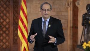 Quim Torra ha parlat de llibertat i democràcia al Palau de la Generalitat