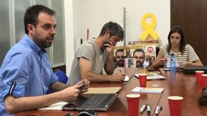 Una de les reunions de treball de Som Espluga.