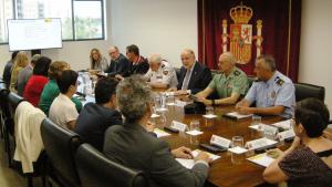 Una imatge de la reunió mantinguda a la subdelegació del govern espanyol al voltant d'aquesta qüestió.