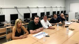 Una imatge de la reunió mantinguda fa uns dies de presentació de l'avantprojecte, encapçalada per l'alcalde Roda de Berà, Pere Virgili.