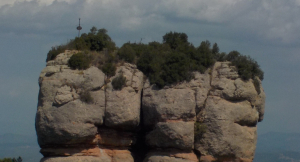 Vista del Morral del Drac, al Parc Natural de Sant Llorenç