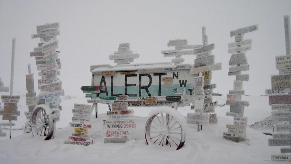 Alert és l'assentament humà permanent més proper al Pol Nord