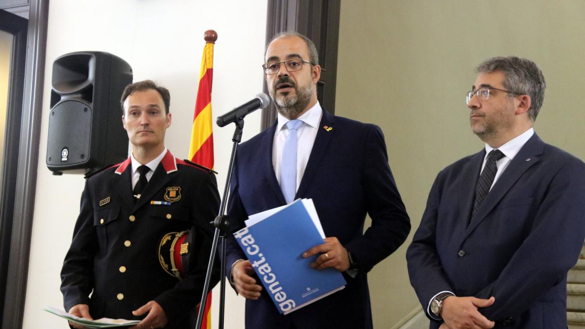 Buch ha presentat aquest matí a Sallent com a nou cap dels Mossos d'Esquadra