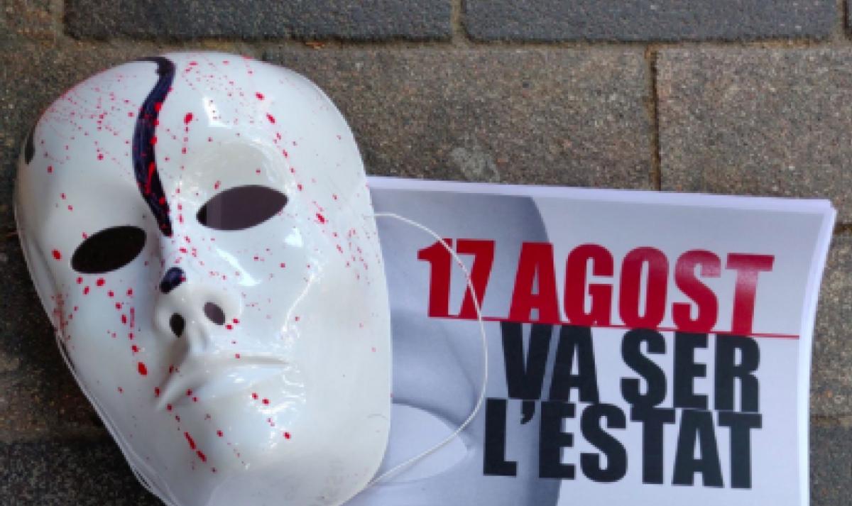 CDR amb màscares tacades de sang exigeixen responsabilitats per la massacre del 17A