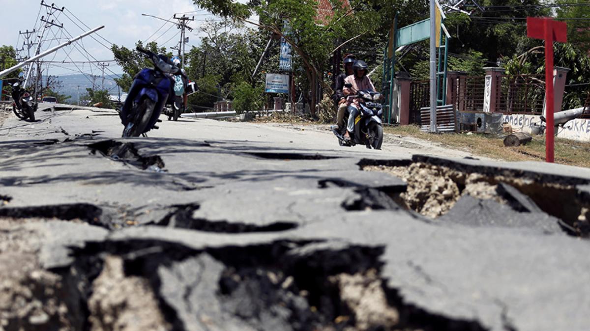 Imatge dels efectes del terratrèmol a Indonèsia