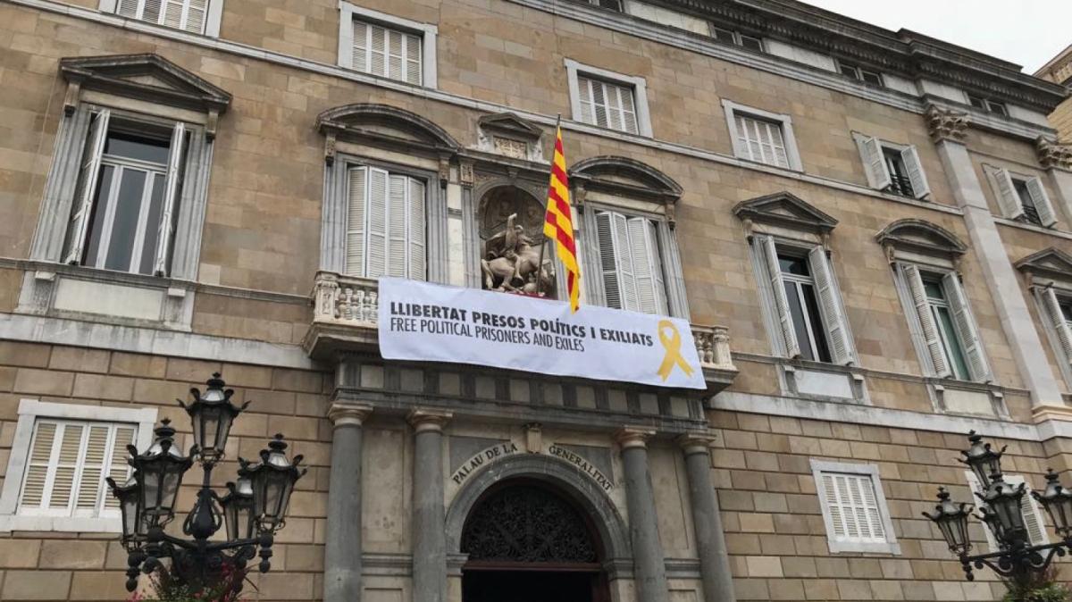 Imatge exterior de la façana de la Generalitat de Catalunya