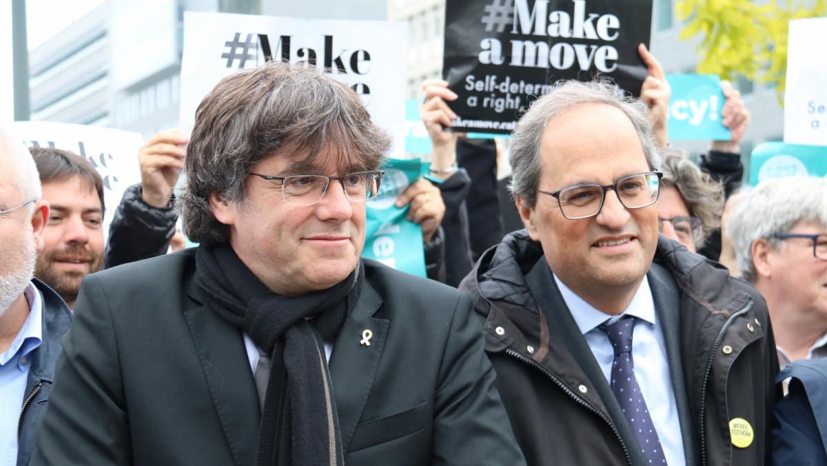 La trobada estava encapçalada per Torra i Puigdemont