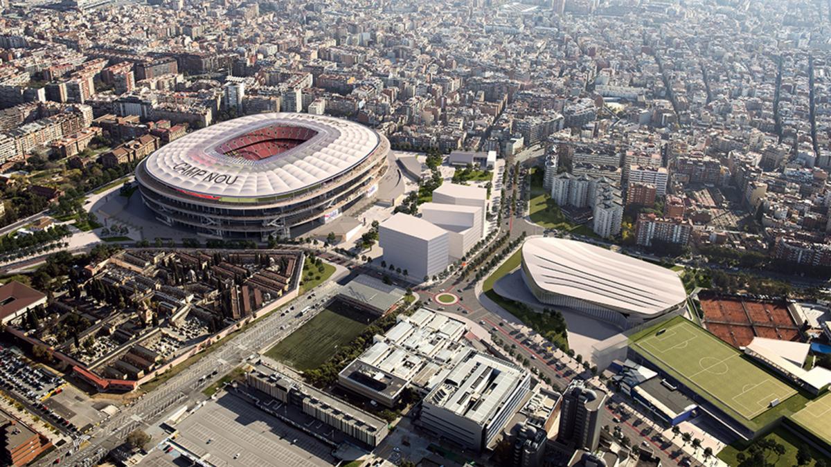 Maqueta del projecte final de l'Espai Barça