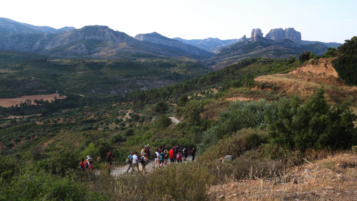 Marxa per homenatjar els cinc bombers del GRAF morts a l'incendi d'Horta de Sant Joan ara fa deu anys