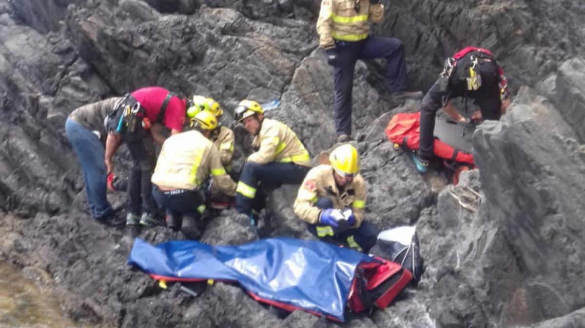 Rescat de l'excursionista a Colera, a l'Alt Empordà.