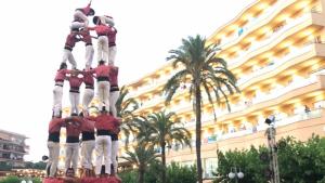 5de7 de la Colla Vella dels Xiquets de Valls a l'Hotel Calypso de Salou