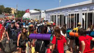 A partir de les 12.00 h d'aquest matí ha tingut lloc l'obertura de portes de l'Acampada Jove 2019