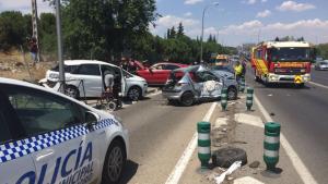 Accidente múltiple Madrid