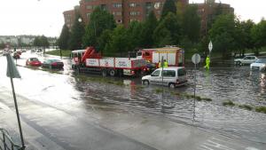 Afectaciones importantes en Burgos por el aguacero de ayer miércoles