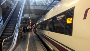 Ave a l'estació de Girona