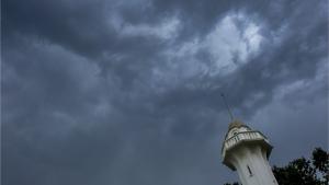 Cel de tempesta a Terrassa aquest dimarts