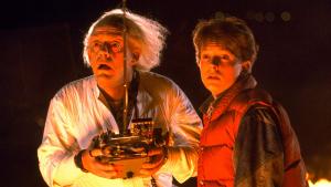 Christopher Lloyd y Michael J. Fox en 'Regreso al futuro' (1985)