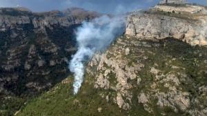 Cinc incendis forestals a les comarques de Tarragona