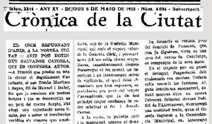 Crònica de l'assassinat a Terrassa l'any 1932