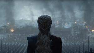 Daenerys en el capítulo final de Juego de Tronos.