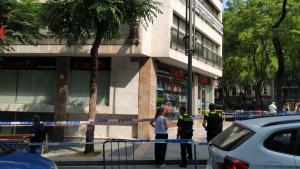 Despreniments en una façana de la Rambla Nova de Tarragona