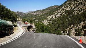 D'esta manera ha quedat la carretera CV-363 després del despreniment