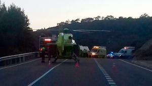 Dues persones ferides, una de gravetat, en un accident a l'N-240 al Valls