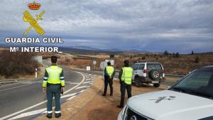 Efectivos de la Guadia Civil en Teruel