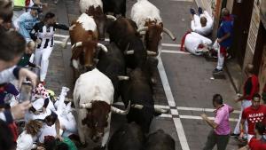 El encierro de los Jandilla se ha saldado con cinco heridos, ninguno por asta de toro