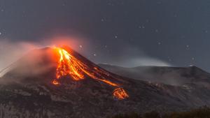 El volcà Etna en erupció aquests últims dies