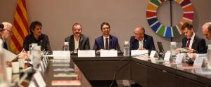 Els consellers Bosch i Calvet durant la reunió