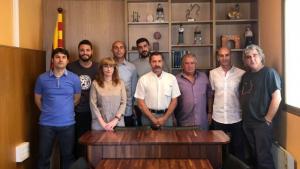 Els nou regidors de l'Ajuntament de la Riera de Gaià per al mandat acabat de començar.