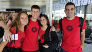 Els tres integrants de l'equip Melius, guanyador del concurs Audi Creativity Challenge.
