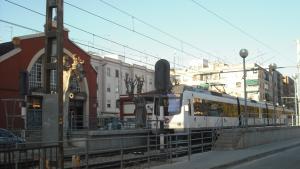 Estació de Metrovalència en un dels municipis de l'Horta Nord